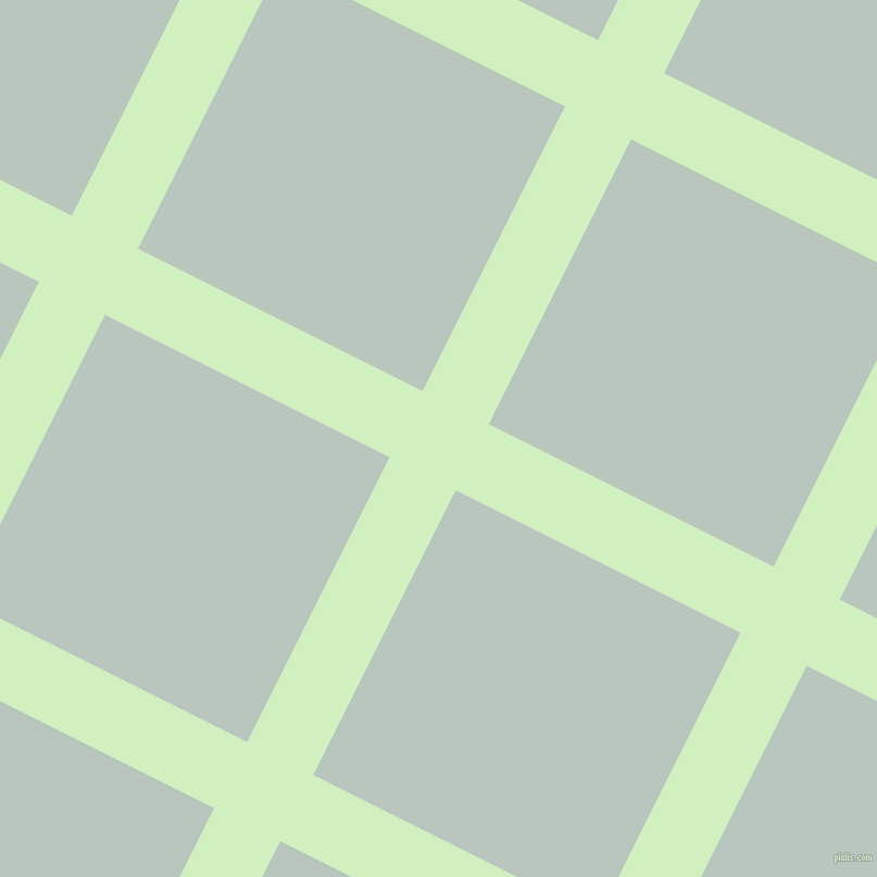 63/153 degree angle diagonal checkered chequered lines, 68 pixel lines width, 293 pixel square size, Tea Green and Nebula plaid checkered seamless tileable