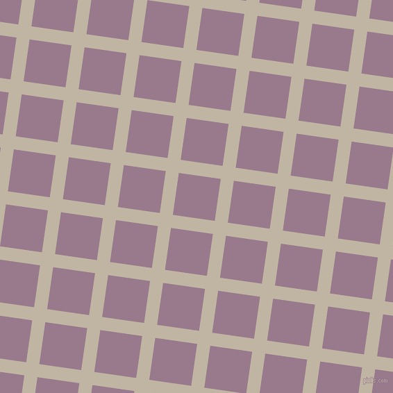 82/172 degree angle diagonal checkered chequered lines, 19 pixel lines width, 61 pixel square size, Tea and Mountbatten Pink plaid checkered seamless tileable