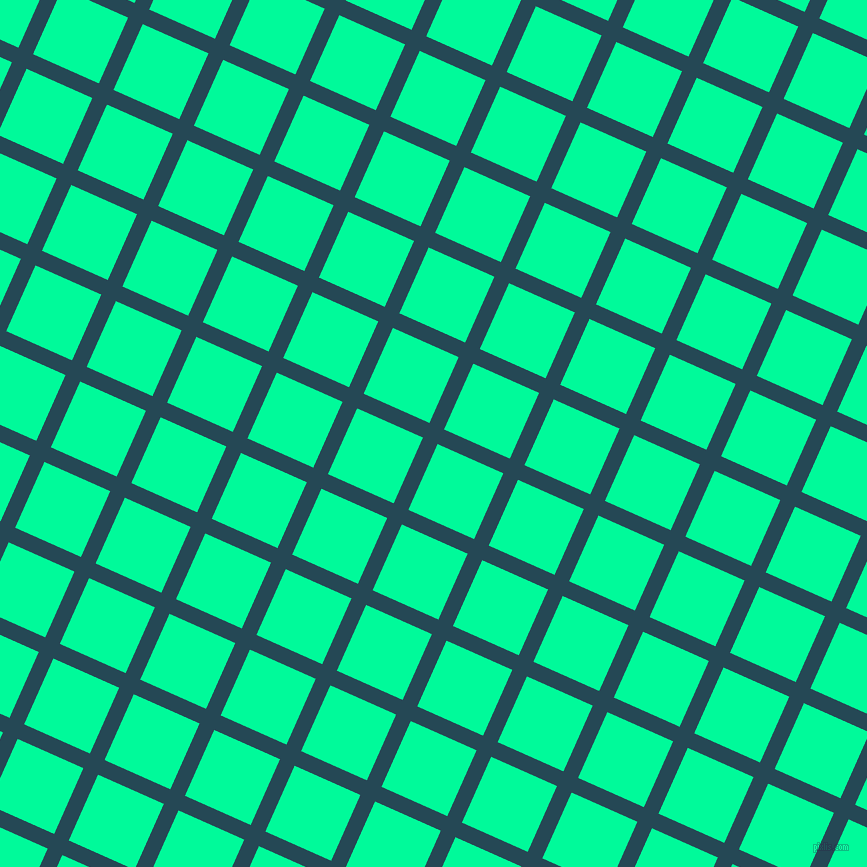 66/156 degree angle diagonal checkered chequered lines, 16 pixel line width, 72 pixel square size, Teal Blue and Medium Spring Green plaid checkered seamless tileable