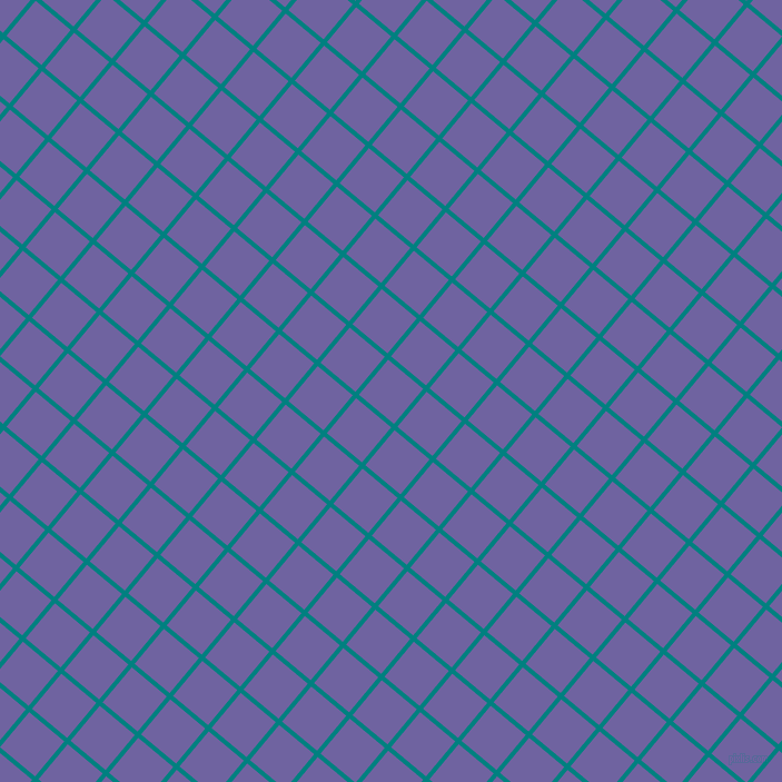 50/140 degree angle diagonal checkered chequered lines, 4 pixel line width, 41 pixel square size, Teal and Scampi plaid checkered seamless tileable