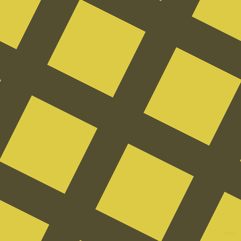 63/153 degree angle diagonal checkered chequered lines, 117 pixel lines width, 250 pixel square size, Thatch Green and Confetti plaid checkered seamless tileable