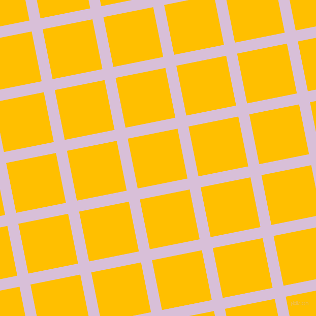 11/101 degree angle diagonal checkered chequered lines, 22 pixel line width, 100 pixel square size, Thistle and Amber plaid checkered seamless tileable
