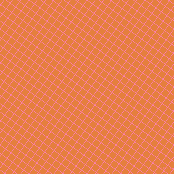 54/144 degree angle diagonal checkered chequered lines, 2 pixel lines width, 20 pixel square size, Tickle Me Pink and Pizazz plaid checkered seamless tileable