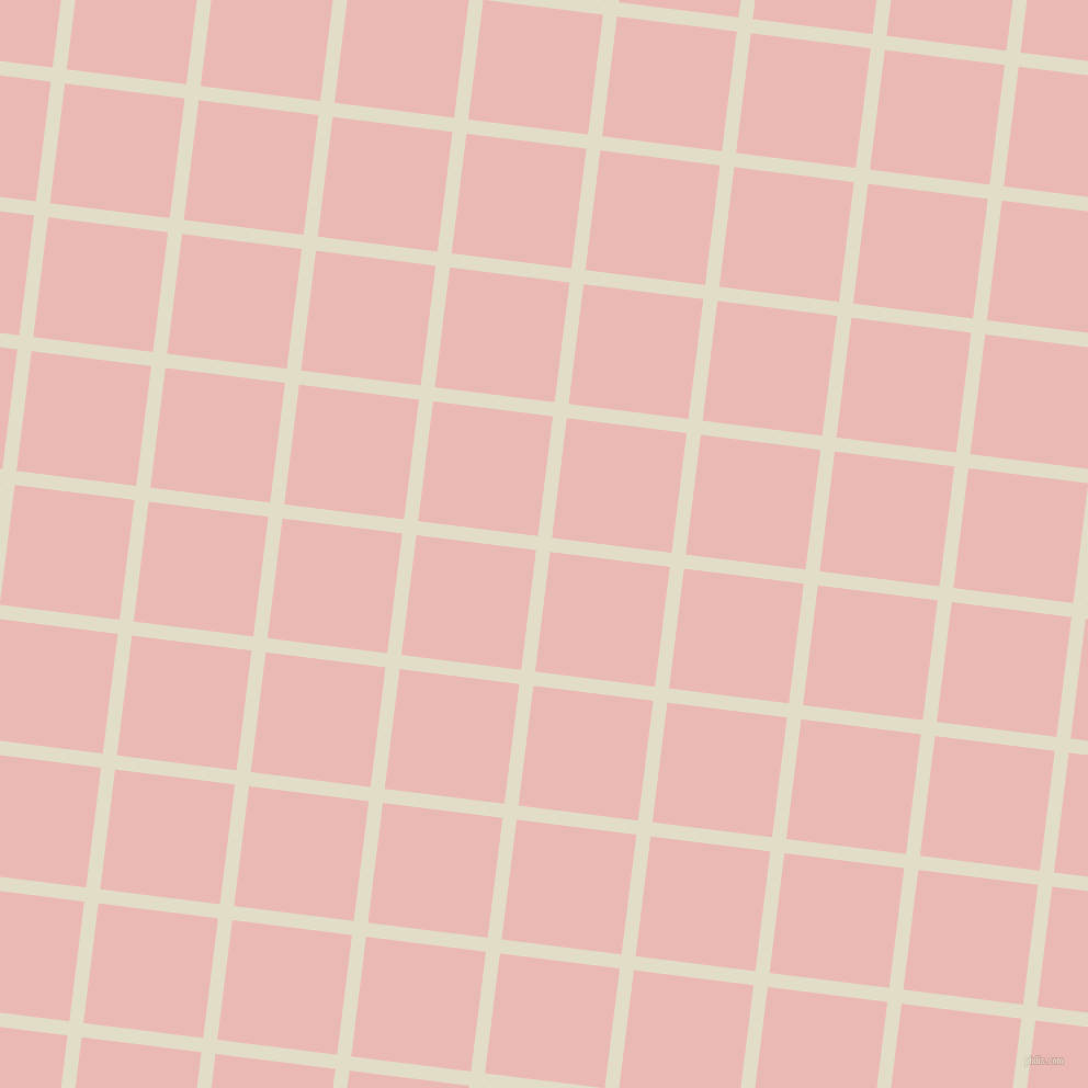 83/173 degree angle diagonal checkered chequered lines, 13 pixel line width, 110 pixel square size, Travertine and Beauty Bush plaid checkered seamless tileable