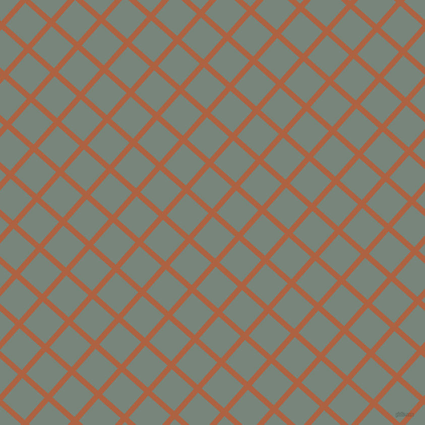 48/138 degree angle diagonal checkered chequered lines, 11 pixel line width, 59 pixel square size, Tuscany and Blue Smoke plaid checkered seamless tileable
