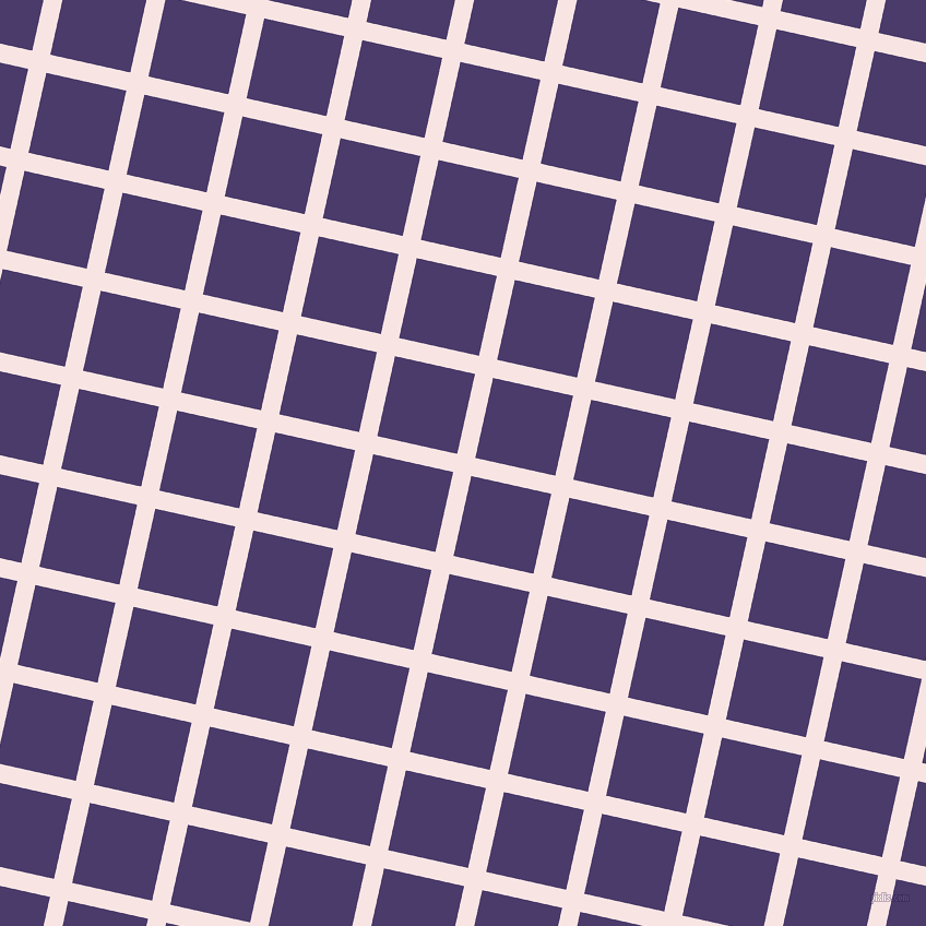 77/167 degree angle diagonal checkered chequered lines, 17 pixel line width, 75 pixel square size, Tutu and Meteorite plaid checkered seamless tileable