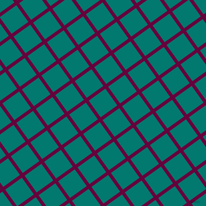 36/126 degree angle diagonal checkered chequered lines, 12 pixel line width, 72 pixel square sizeTyrian Purple and Pine Green plaid checkered seamless tileable