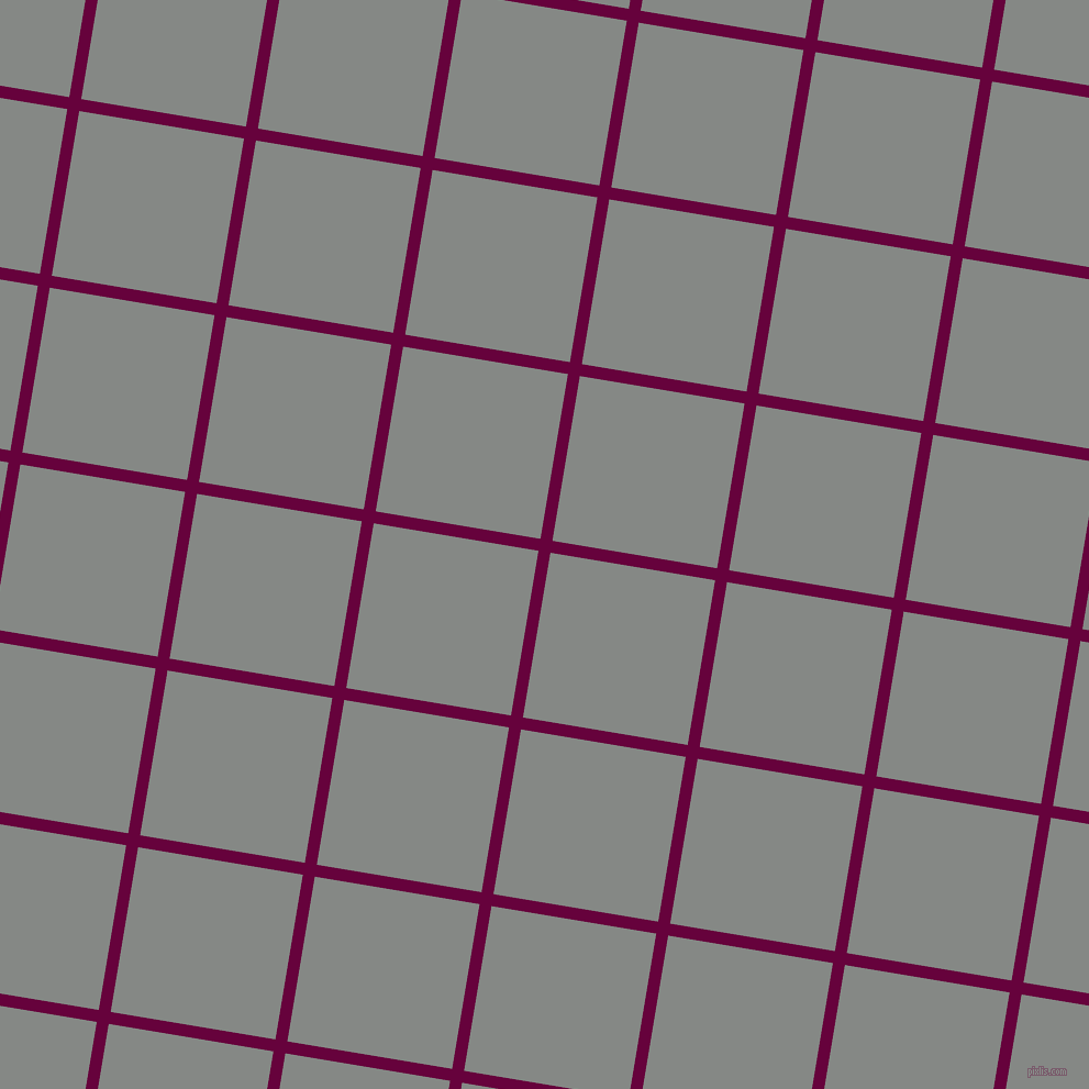 81/171 degree angle diagonal checkered chequered lines, 11 pixel line width, 152 pixel square size, Tyrian Purple and Stack plaid checkered seamless tileable