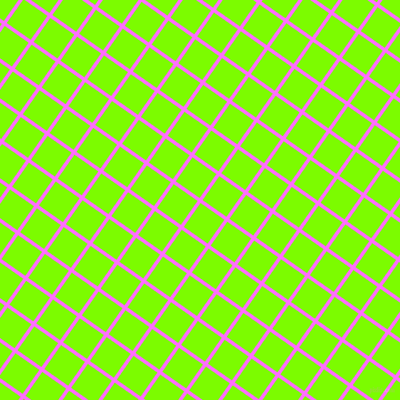 55/145 degree angle diagonal checkered chequered lines, 5 pixel line width, 41 pixel square size, Ultra Pink and Lawn Green plaid checkered seamless tileable