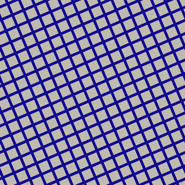 23/113 degree angle diagonal checkered chequered lines, 9 pixel lines width, 31 pixel square size, Ultramarine and Cotton Seed plaid checkered seamless tileable