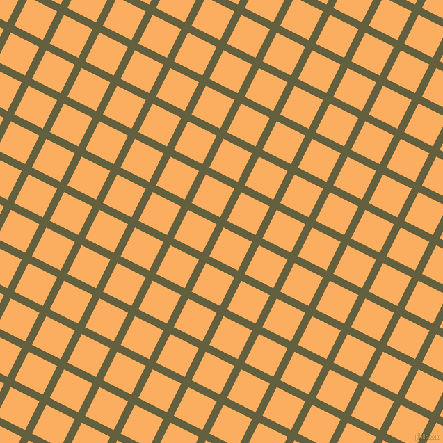 63/153 degree angle diagonal checkered chequered lines, 11 pixel line width, 46 pixel square size, Verdigris and Rajah plaid checkered seamless tileable
