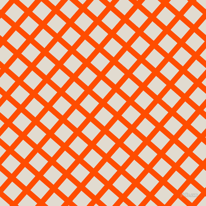 49/139 degree angle diagonal checkered chequered lines, 11 pixel line width, 28 pixel square size, Vermilion and Merino plaid checkered seamless tileable