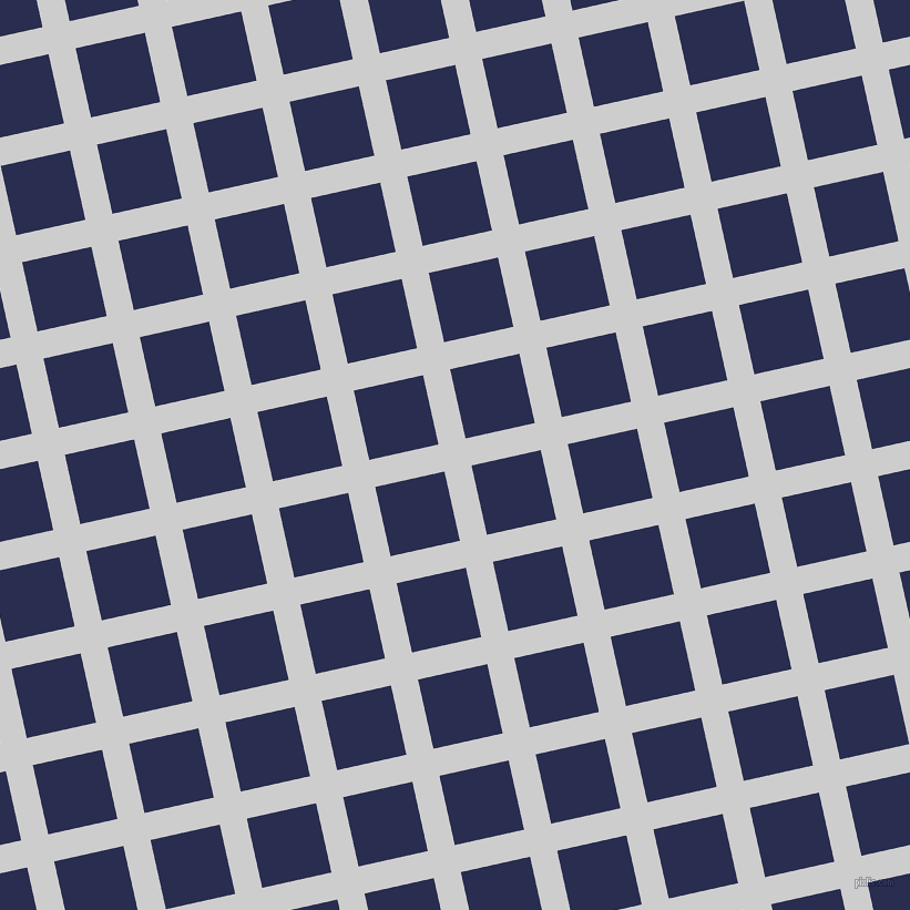 13/103 degree angle diagonal checkered chequered lines, 25 pixel line width, 64 pixel square size, Very Light Grey and Lucky Point plaid checkered seamless tileable