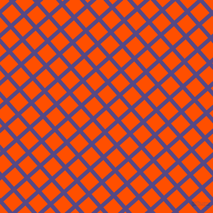 42/132 degree angle diagonal checkered chequered lines, 8 pixel lines width, 28 pixel square size, Victoria and International Orange plaid checkered seamless tileable