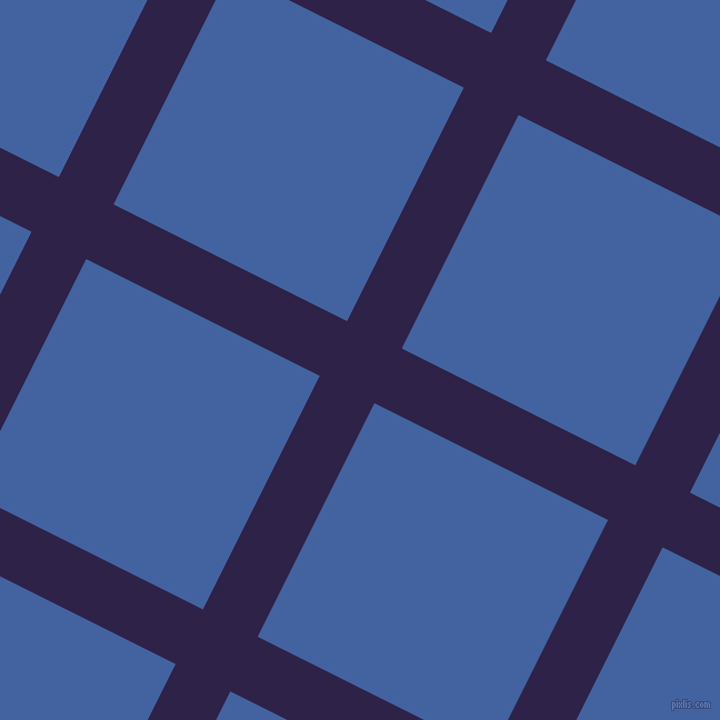 63/153 degree angle diagonal checkered chequered lines, 55 pixel line width, 235 pixel square size, Violent Violet and Mariner plaid checkered seamless tileable