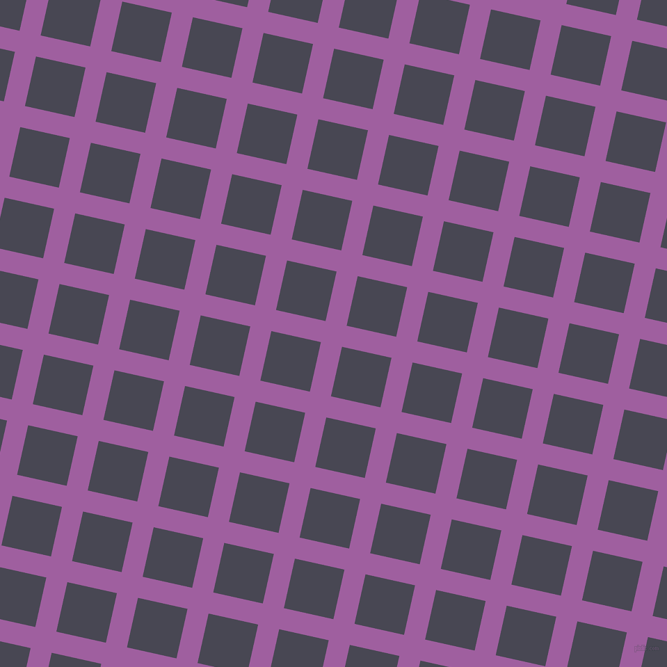77/167 degree angle diagonal checkered chequered lines, 31 pixel lines width, 73 pixel square size, Violet Blue and Gun Powder plaid checkered seamless tileable