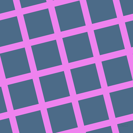 14/104 degree angle diagonal checkered chequered lines, 22 pixel lines width, 87 pixel square size, Violet and Wedgewood plaid checkered seamless tileable