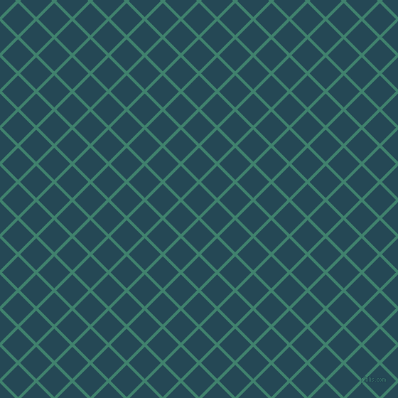 45/135 degree angle diagonal checkered chequered lines, 4 pixel lines width, 32 pixel square size, Viridian and Teal Blue plaid checkered seamless tileable