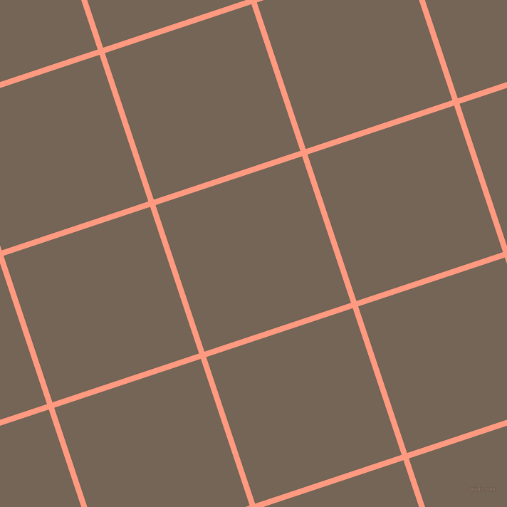 18/108 degree angle diagonal checkered chequered lines, 8 pixel line width, 217 pixel square sizeVivid Tangerine and Pine Cone plaid checkered seamless tileable