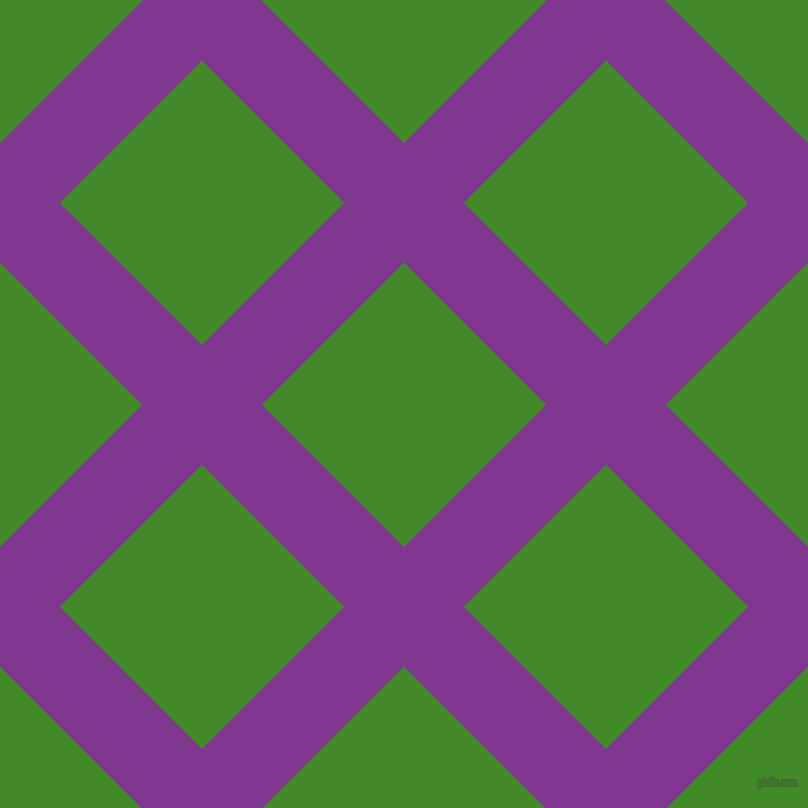 45/135 degree angle diagonal checkered chequered lines, 76 pixel line width, 181 pixel square size, Vivid Violet and La Palma plaid checkered seamless tileable