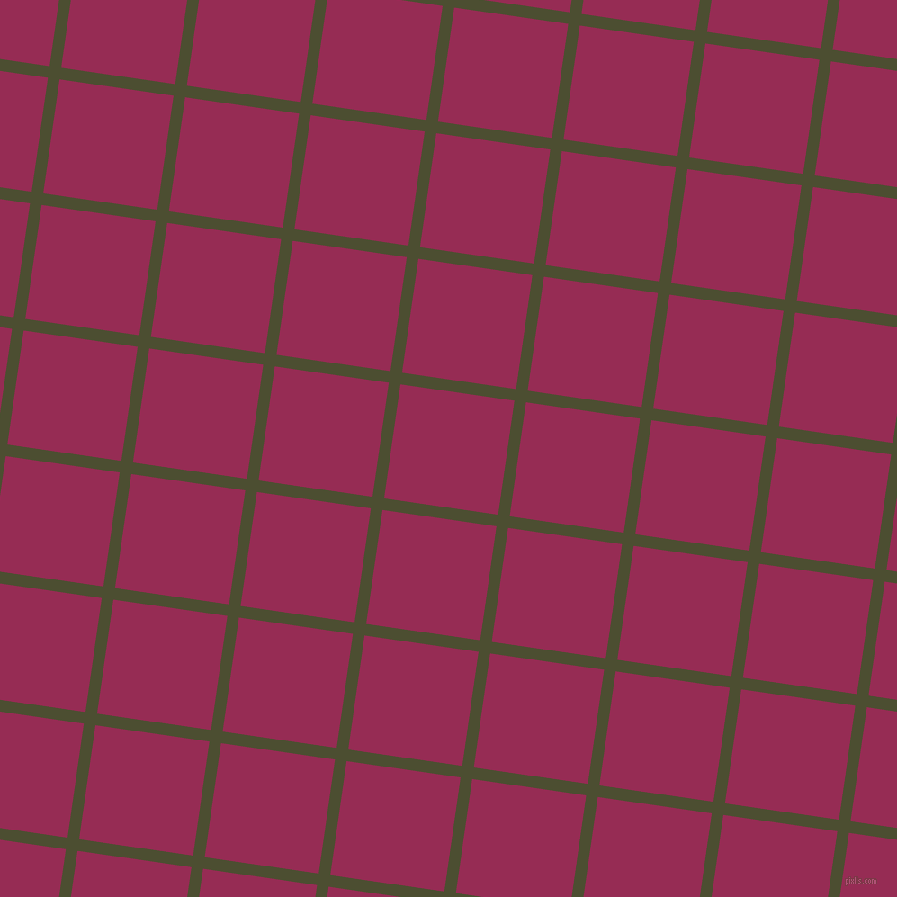 82/172 degree angle diagonal checkered chequered lines, 13 pixel lines width, 128 pixel square size, Waiouru and Lipstick plaid checkered seamless tileable