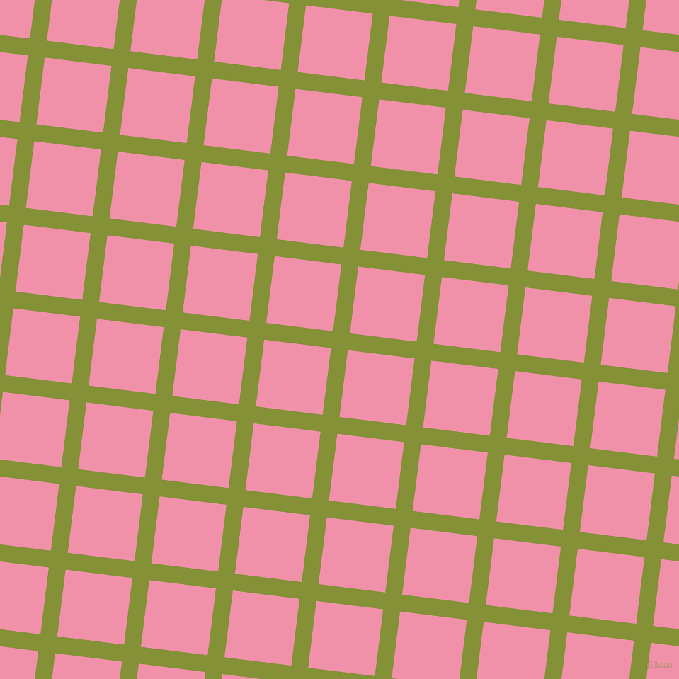 83/173 degree angle diagonal checkered chequered lines, 24 pixel lines width, 95 pixel square size, Wasabi and Mauvelous plaid checkered seamless tileable