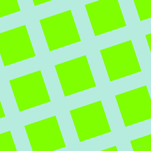 18/108 degree angle diagonal checkered chequered lines, 51 pixel line width, 112 pixel square size, Water Leaf and Chartreuse plaid checkered seamless tileable