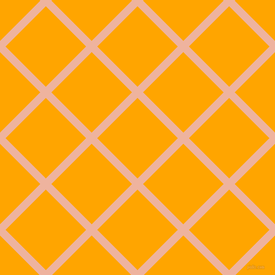 45/135 degree angle diagonal checkered chequered lines, 16 pixel lines width, 116 pixel square size, Wax Flower and Orange plaid checkered seamless tileable