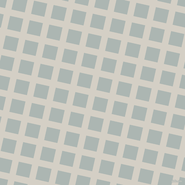 77/167 degree angle diagonal checkered chequered lines, 22 pixel line width, 46 pixel square size, Westar and Periglacial Blue plaid checkered seamless tileable