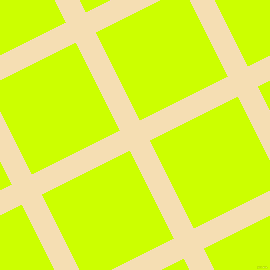 27/117 degree angle diagonal checkered chequered lines, 74 pixel line width, 325 pixel square size, Wheat and Electric Lime plaid checkered seamless tileable