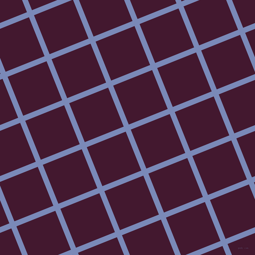 22/112 degree angle diagonal checkered chequered lines, 18 pixel line width, 139 pixel square size, Wild Blue Yonder and Blackberry plaid checkered seamless tileable