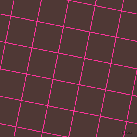 79/169 degree angle diagonal checkered chequered lines, 3 pixel line width, 90 pixel square size, Wild Strawberry and Cocoa Bean plaid checkered seamless tileable
