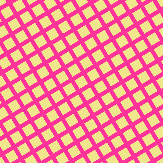 31/121 degree angle diagonal checkered chequered lines, 14 pixel line width, 33 pixel square size, Wild Strawberry and Khaki plaid checkered seamless tileable