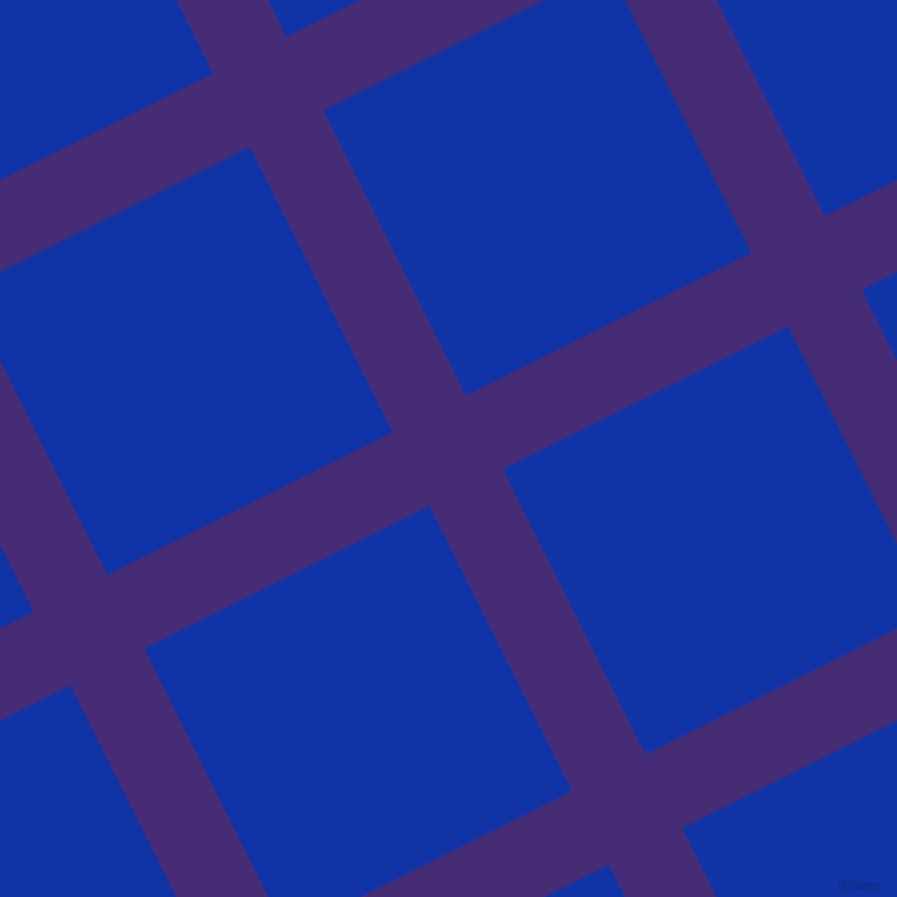 27/117 degree angle diagonal checkered chequered lines, 74 pixel lines width, 287 pixel square size, Windsor and Egyptian Blue plaid checkered seamless tileable