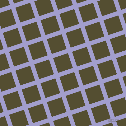 18/108 degree angle diagonal checkered chequered lines, 14 pixel line width, 50 pixel square size, Wistful and Thatch Green plaid checkered seamless tileable