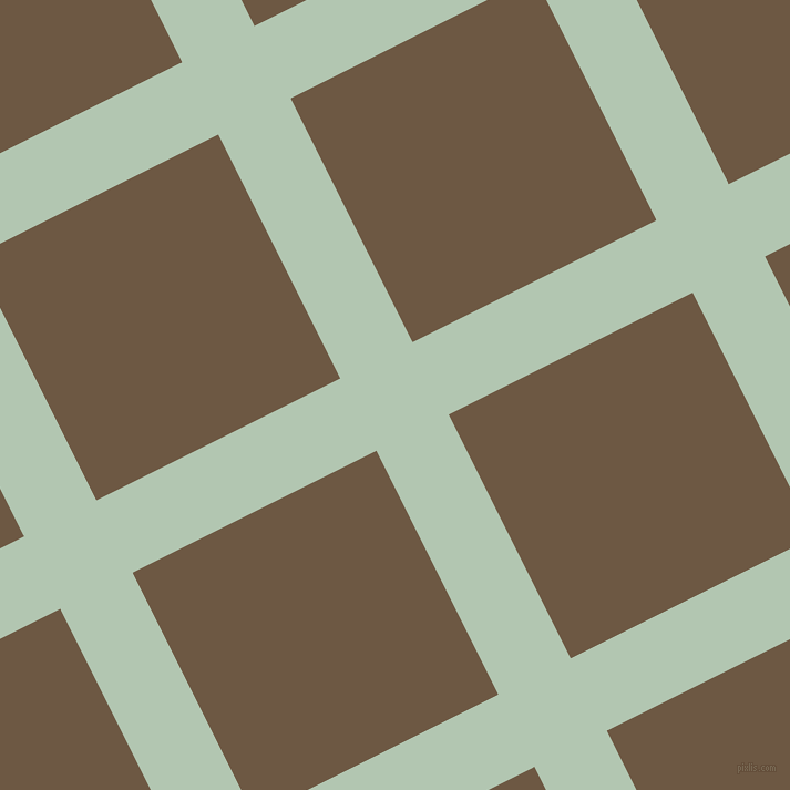 27/117 degree angle diagonal checkered chequered lines, 73 pixel line width, 246 pixel square size, Zanah and Tobacco Brown plaid checkered seamless tileable