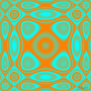 , Aqua and Dark Orange plasma wave seamless tileable