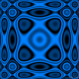 , Black and Dodger Blue plasma wave seamless tileable