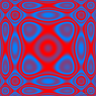 , Dodger Blue and Red plasma wave seamless tileable