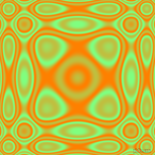 , Mint Green and Dark Orange plasma wave seamless tileable