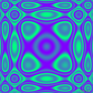 Spring Green and Electric Indigo plasma wave seamless tileable