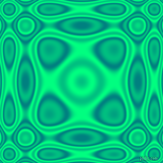 , Teal and Spring Green plasma wave seamless tileable