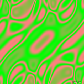 Lime and Salmon plasma waves seamless tileable