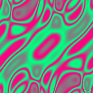 Spring Green and Deep Pink plasma waves seamless tileable