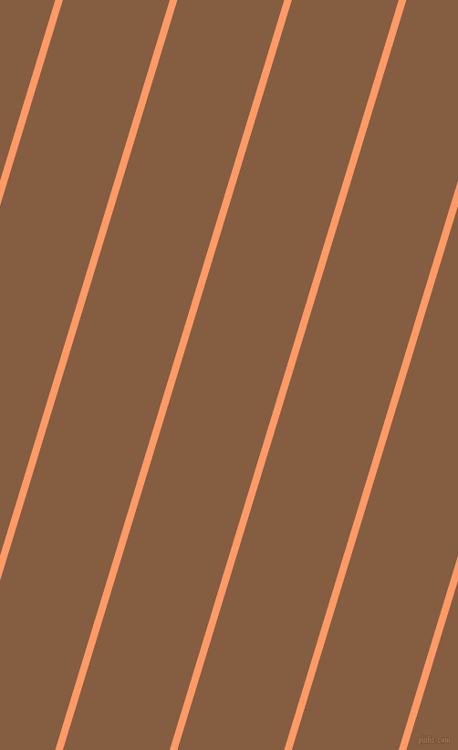 73 degree angle lines stripes, 8 pixel line width, 112 pixel line spacing, Atomic Tangerine and Dark Wood stripes and lines seamless tileable