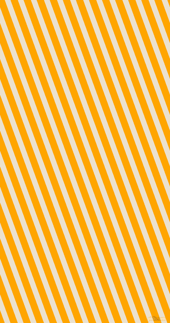 110 degree angle lines stripes, 11 pixel line width, 14 pixel line spacing, Bleach White and Orange stripes and lines seamless tileable