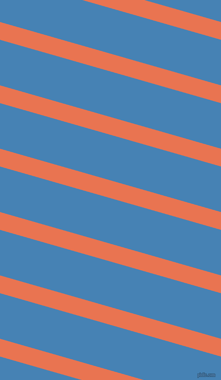 164 degree angle lines stripes, 34 pixel line width, 87 pixel line spacing, Burnt Sienna and Steel Blue stripes and lines seamless tileable