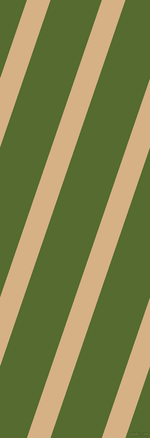 71 degree angle lines stripes, 46 pixel line width, 100 pixel line spacing, Calico and Dark Olive Green stripes and lines seamless tileable