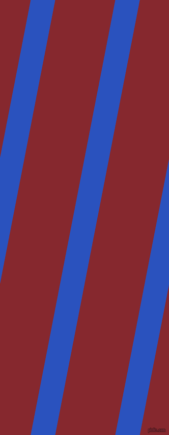 79 degree angle lines stripes, 49 pixel line width, 120 pixel line spacing, Cerulean Blue and Flame Red stripes and lines seamless tileable