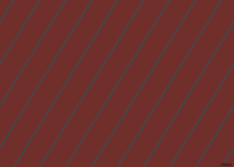 58 degree angle lines stripes, 6 pixel line width, 67 pixel line spacing, Charcoal and Auburn stripes and lines seamless tileable